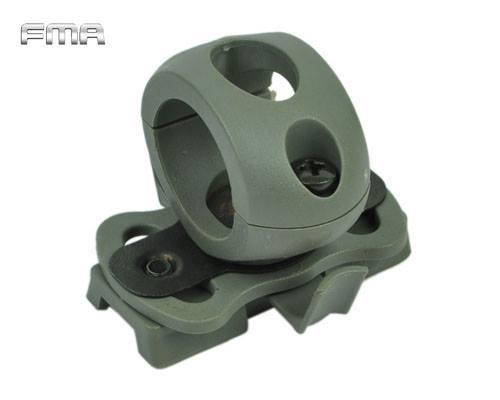 FMA Adaptador Linterna/Laser para Casco Olive Drab