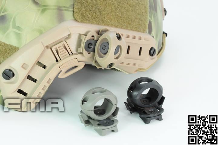 FMA Adaptador Linterna/Laser para Casco Black