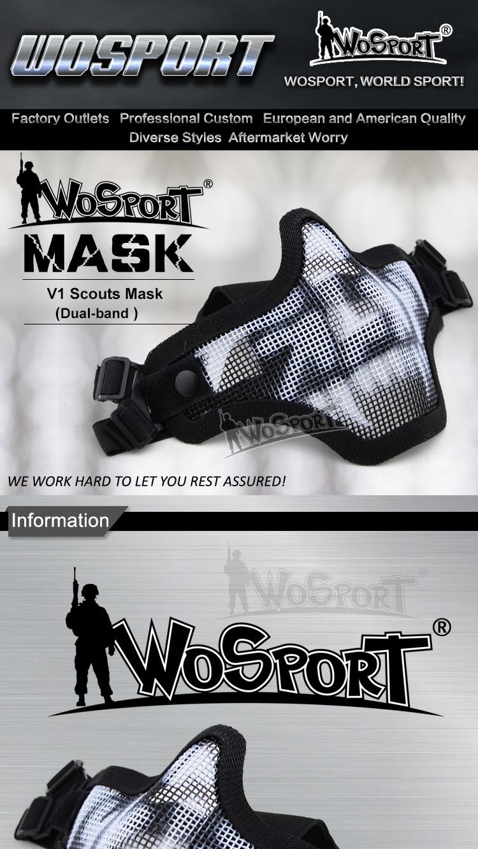 Wosport V1 Half-Mas Negro