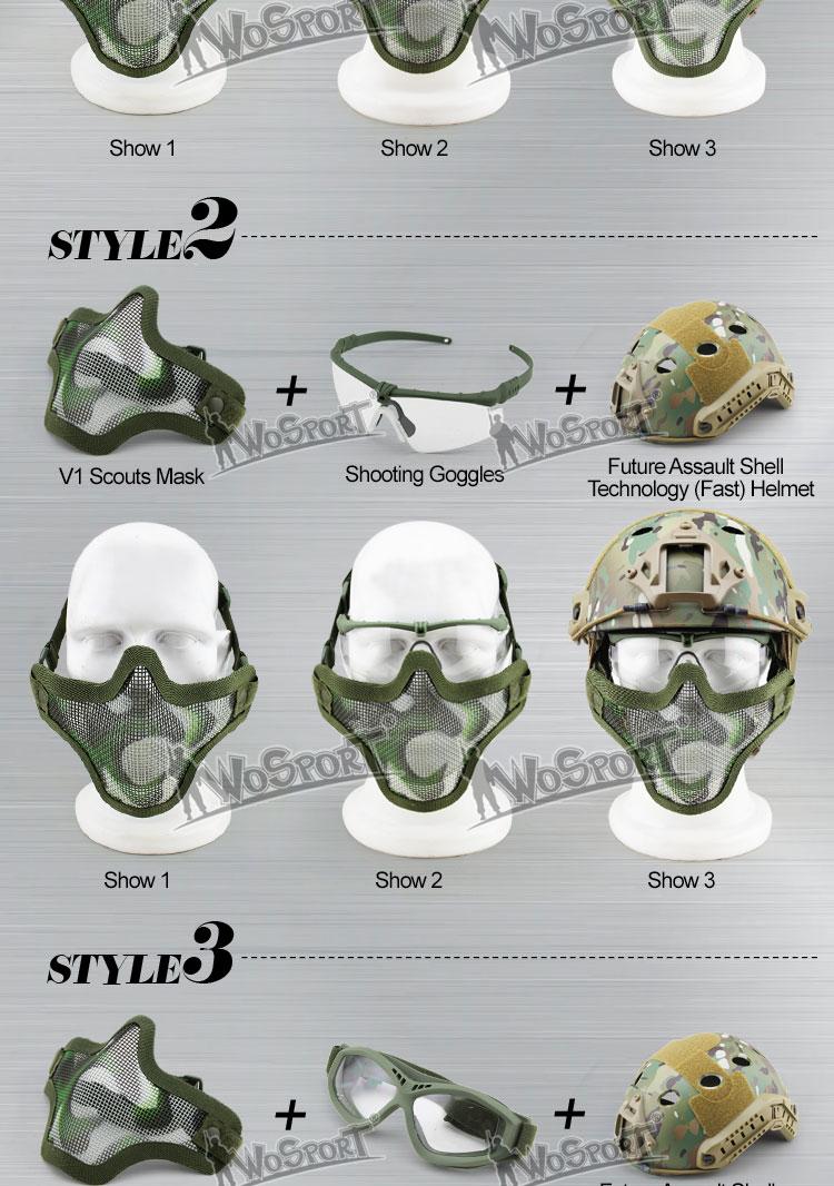 Wosport V1 Half- Mask Verde