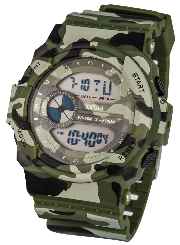 Reloj Sinte camuflado Verde