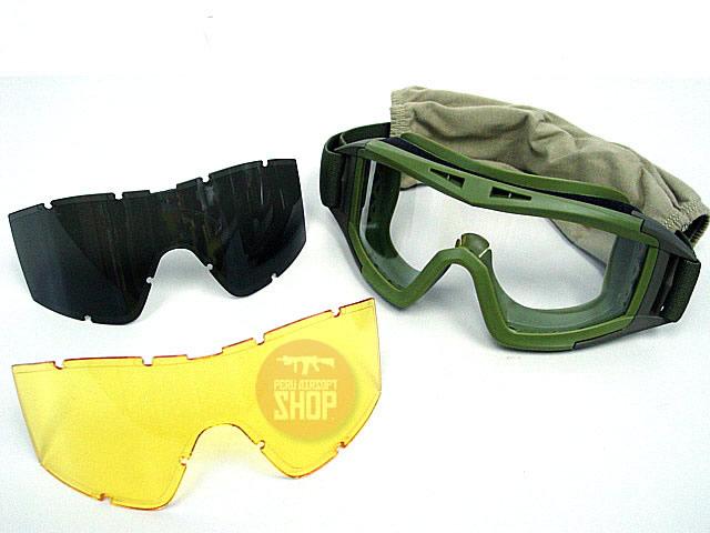Goggles con 3 lunas de intercambio - Verde