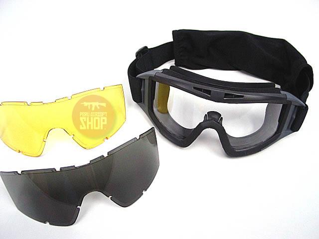 Goggles con 3 lunas de intercambio - Negro