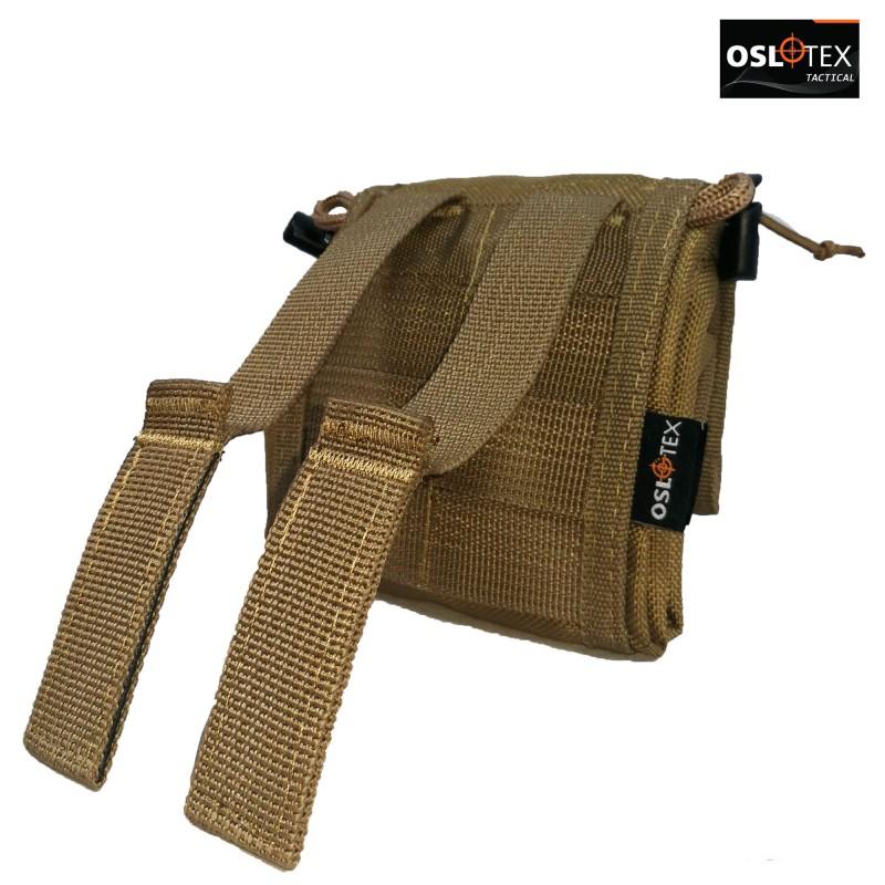 OSLOTEX Bolsa de Reciclaje Recogible en Forma de Pouch Coyote 1000D