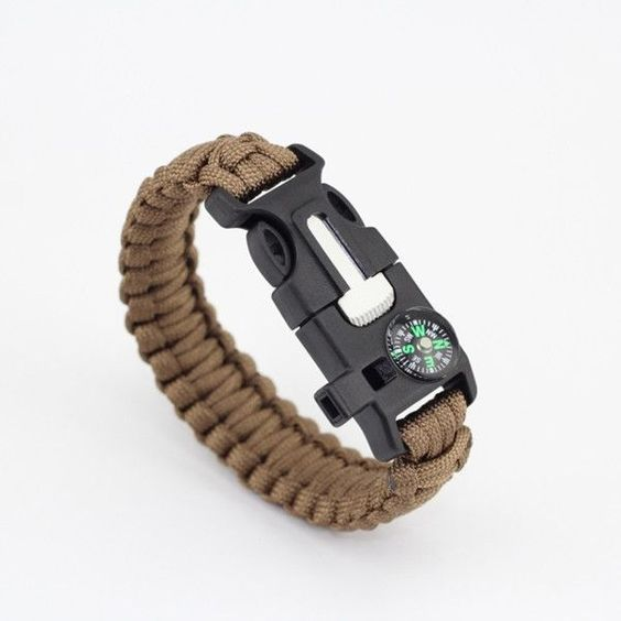 Paracord Supervivencia 5 en 1 Desert