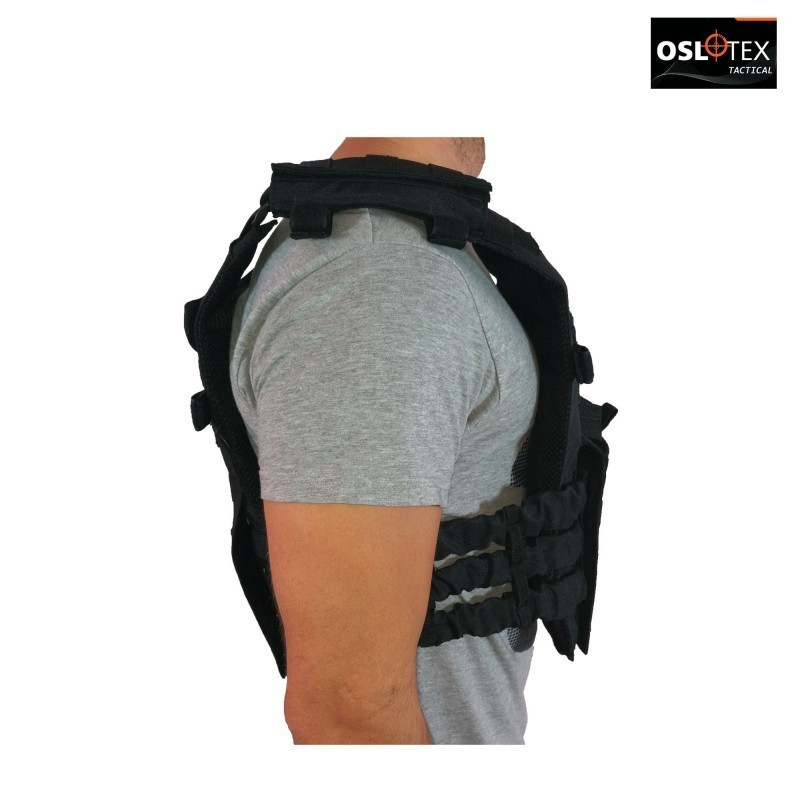 OSLOTEX Chaleco Tactical Warrior BK 1000D