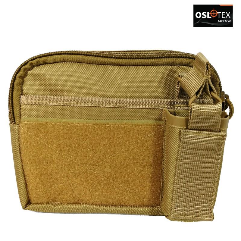 OSLOTEX Portamapa con Cremallera Coyote