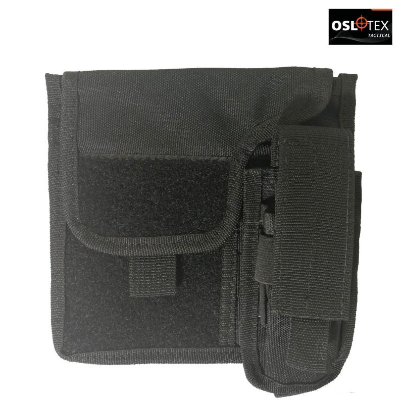 OSLOTEX Portamapa con Portacargador BK