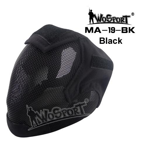 WST V6 MASCARA COMPLETA DE MALLA  BLACK